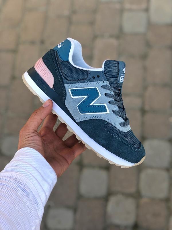 Шикарные женские кроссовки new balance 574 blue