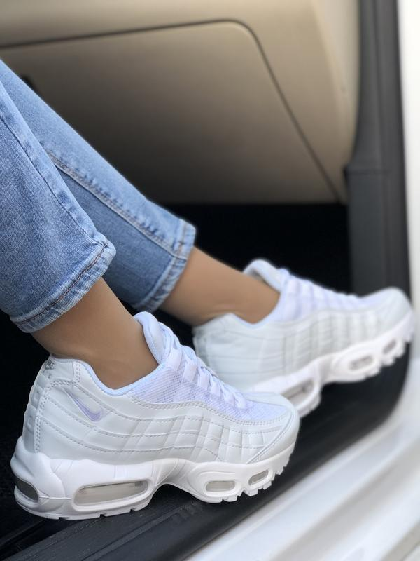 Шикарные женские кроссовки nike air max 95 white