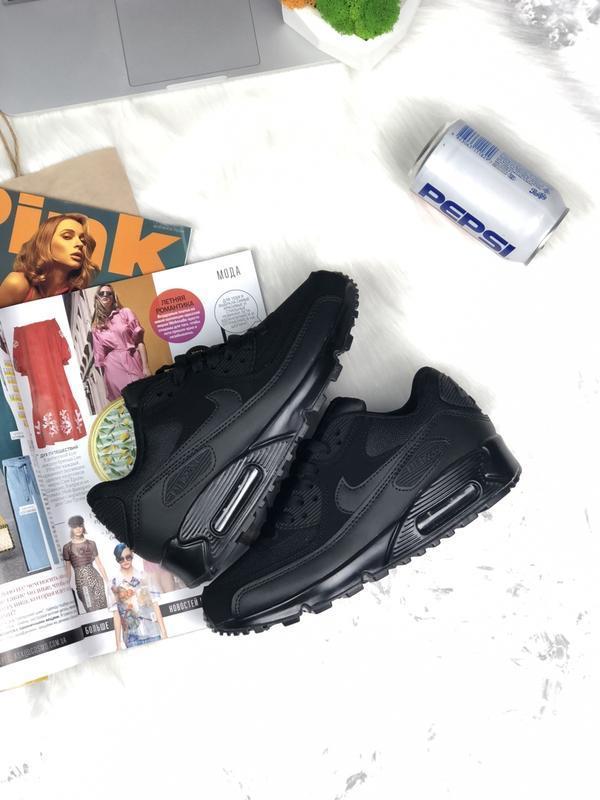 Шикарные женские кроссовки nike air max 90 black