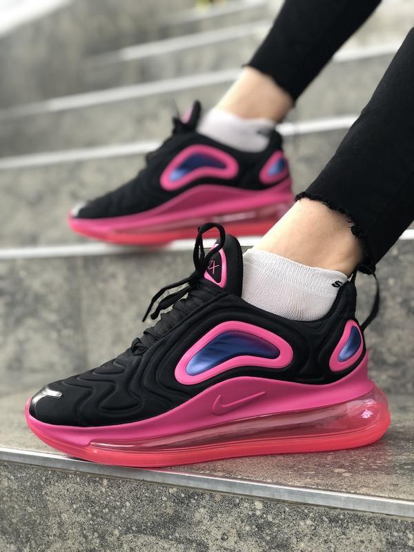 Шикарные женские кроссовки nike air max 720 white pink