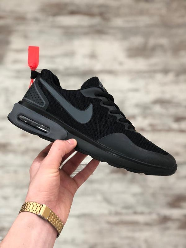 Шикарные мужские кроссовки nike air max черные