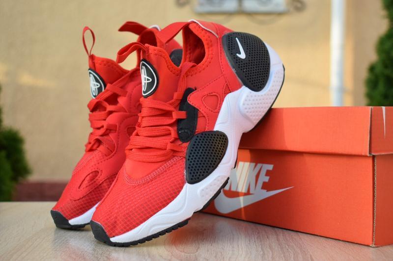 Шикарные женские кроссовки nike huarache edge красные