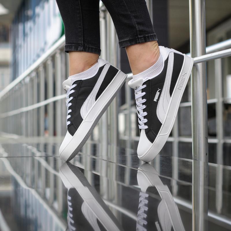 Шикарные женские кроссовки puma suede черные