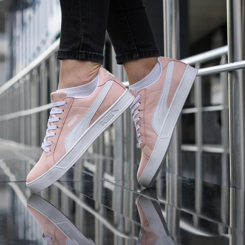 Шикарные женские кроссовки puma suede розовые