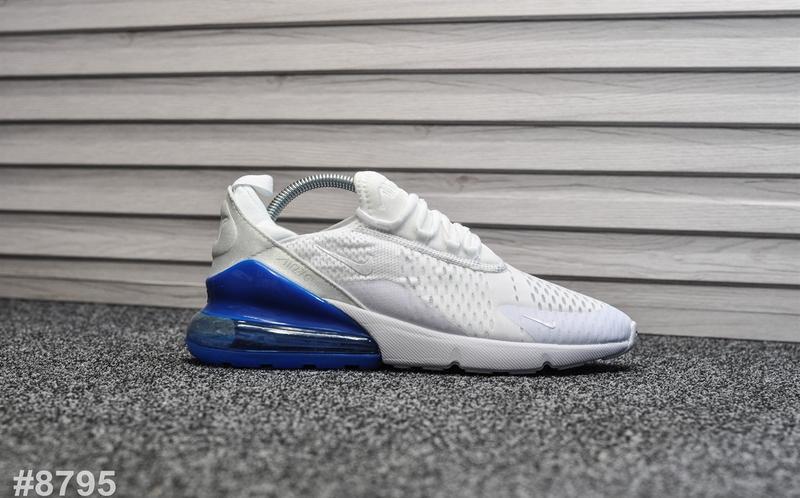Шикарные мужские кроссовки nike air max 270 white белые