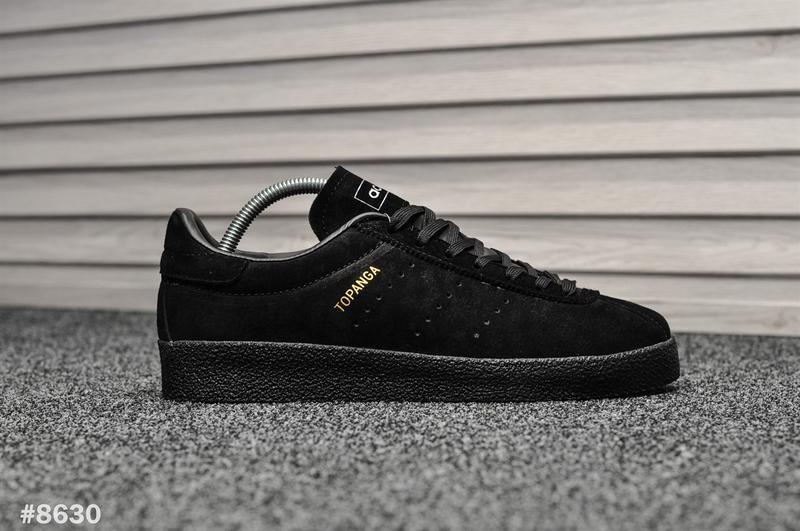 Шикарные мужские кроссовки adidas topanga чёрные