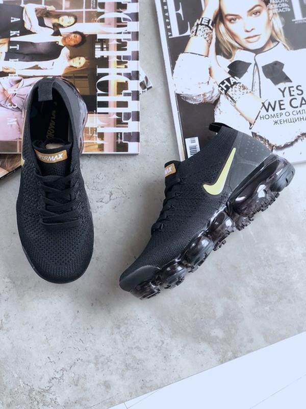 Шикарные мужские кроссовки nike air vapormax 2.0 black metalli...