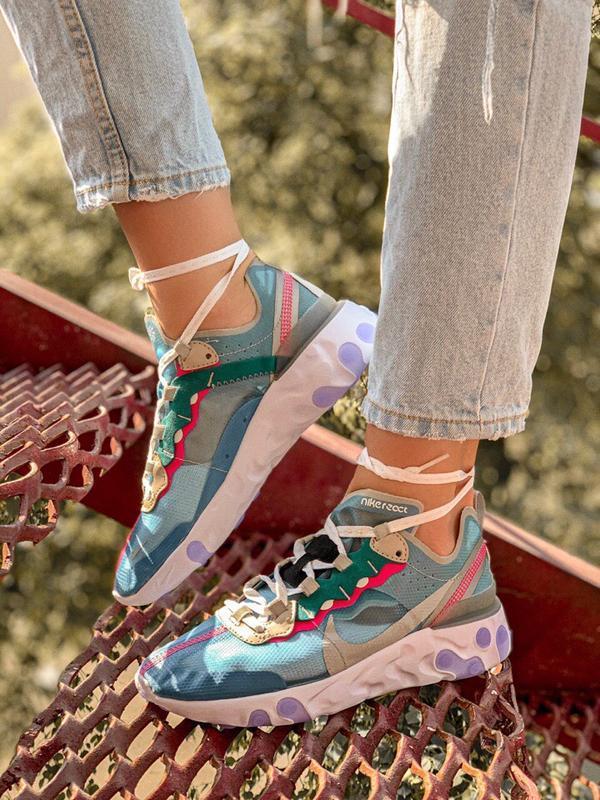 Шикарные женские кроссовки nike react element 87 royal tint