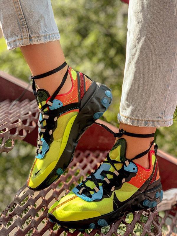 Шикарные женские кроссовки nike react element 87