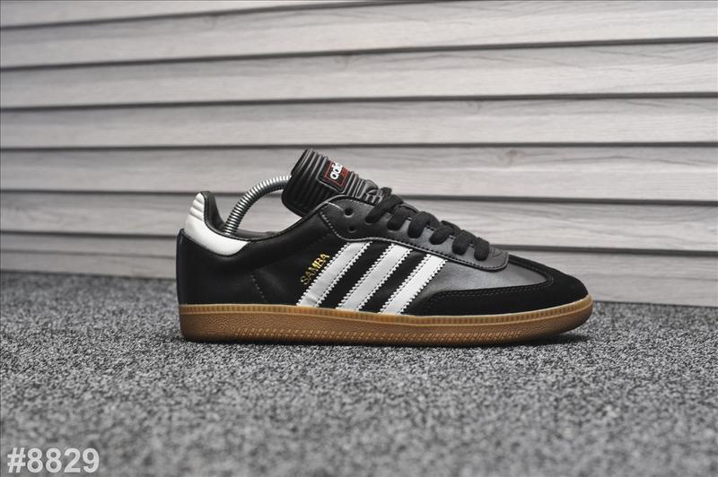 Шикарные мужские кроссовки adidas samba чёрные