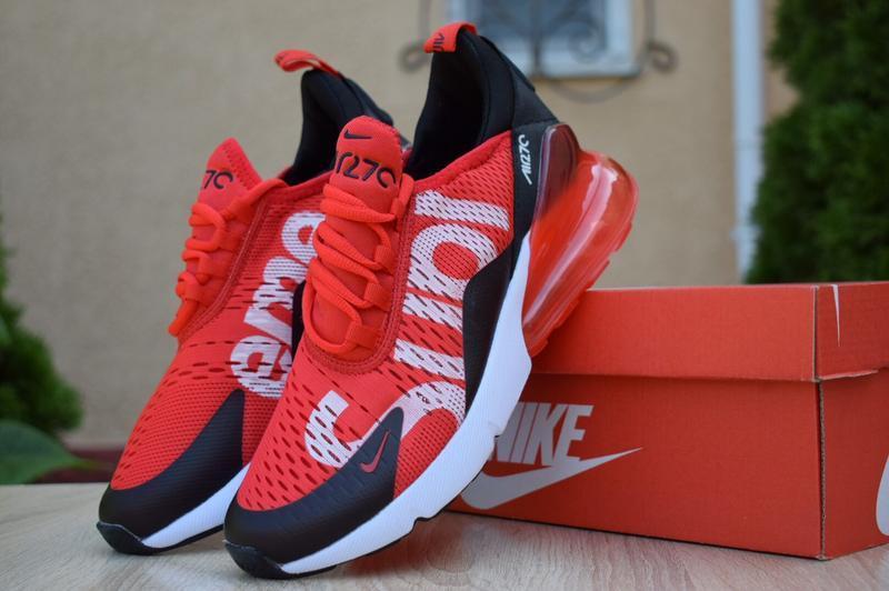 Мужские кроссовки nike air max 270 supreme красные
