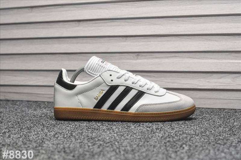 Шикарные мужские кроссовки adidas samba белые