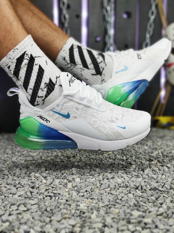 Шикарные мужские кроссовки nike air max 270 белые