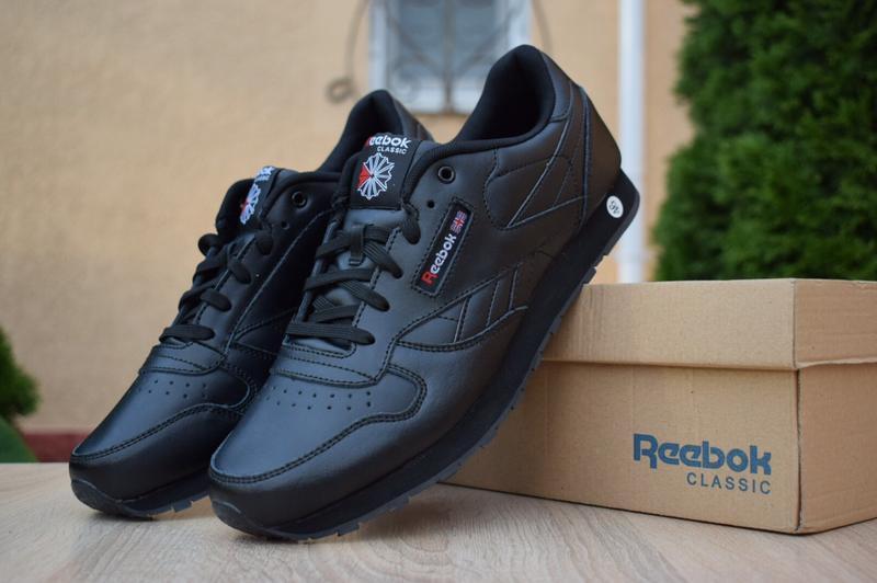 Шикарные кроссовки reeebok classic черные великаны