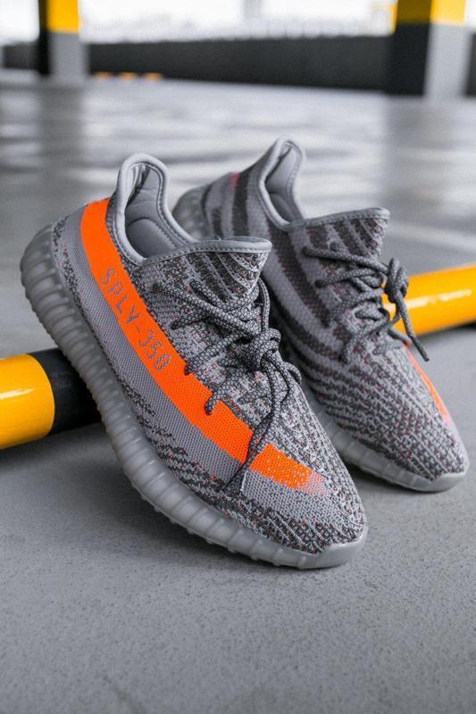 Шикарные кроссовки adidas yeezy boost 350 v2 beluga серые