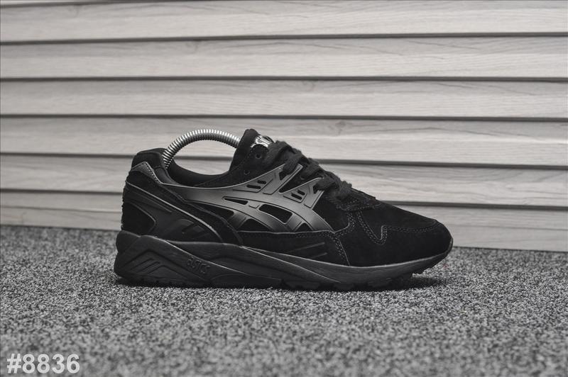 Шикарные мужские кроссовки asics gel kayano trainer black чёрные
