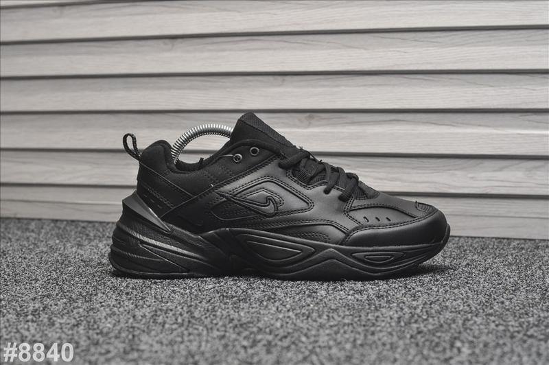 Шикарные мужские кроссовки nike m2k tekno black чёрные