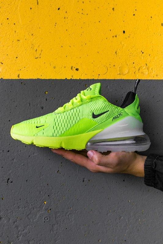 Шикарные мужские кроссовки nike air max 270 green neon white с...