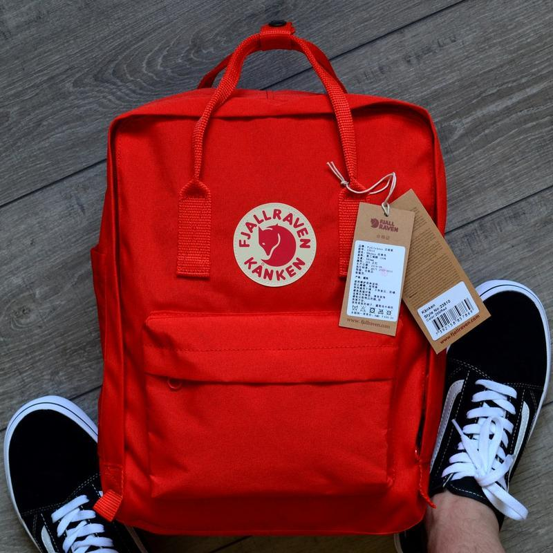 Шикарный женский рюкзак fjallraven kanken art red