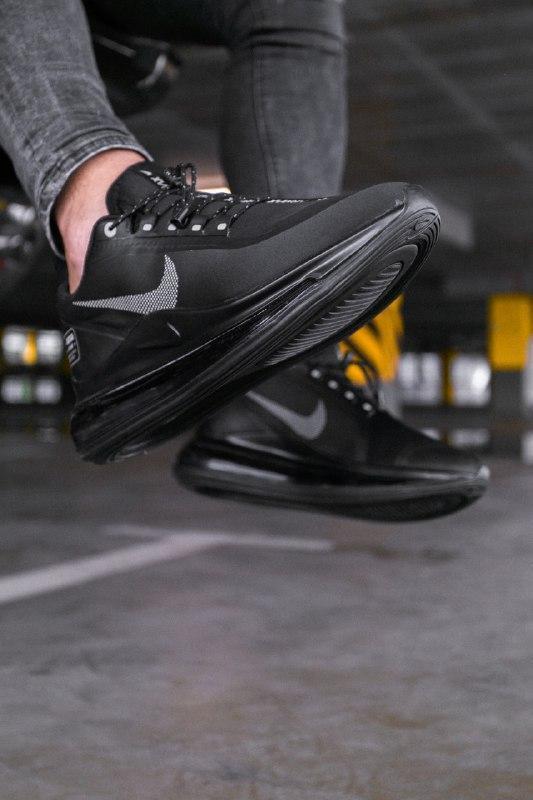 Шикарные мужские кроссовки nike air max 720 new 2019 black чёрные - Фото 2