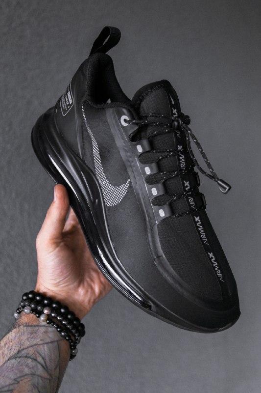 Шикарные мужские кроссовки nike air max 720 new 2019 black чёрные - Фото 3