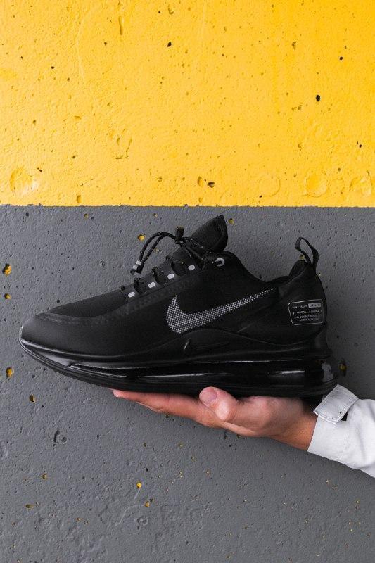 Шикарные мужские кроссовки nike air max 720 new 2019 black чёрные - Фото 4
