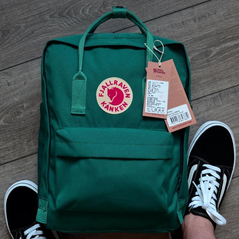 Шикарный женский рюкзак fjallraven kanken art ocean green