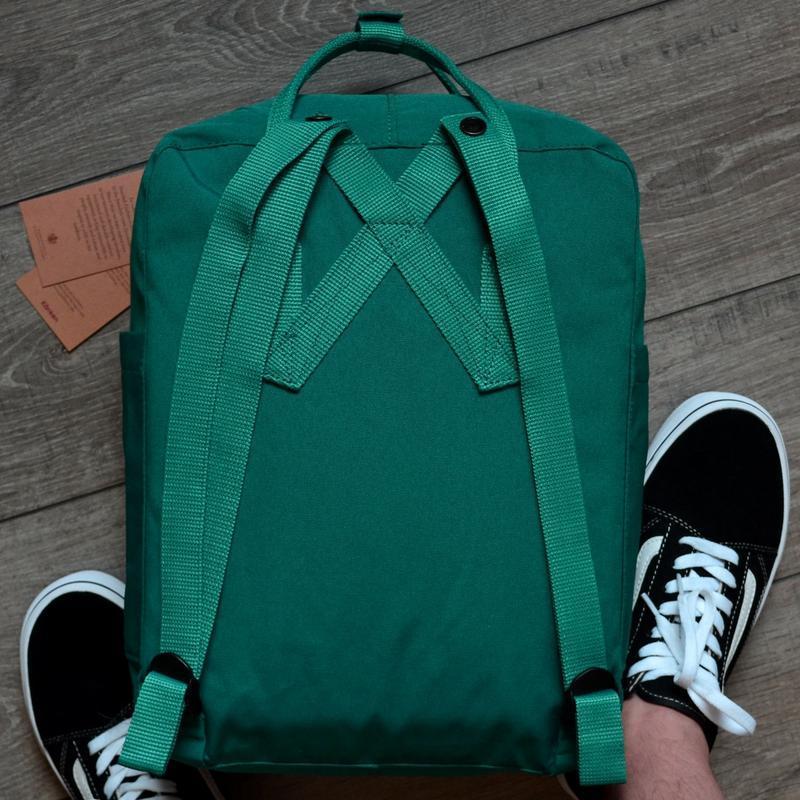 Шикарный женский рюкзак fjallraven kanken art ocean green - Фото 2