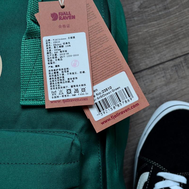 Шикарный женский рюкзак fjallraven kanken art ocean green - Фото 3