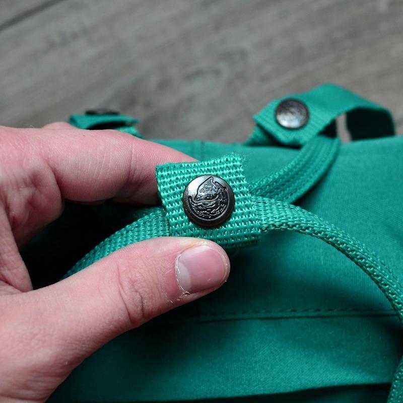 Шикарный женский рюкзак fjallraven kanken art ocean green - Фото 4