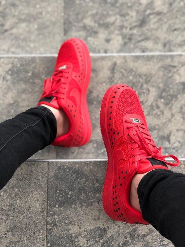 Шикарные мужские кроссовки nike air force low 1 red красные ни... - Фото 2