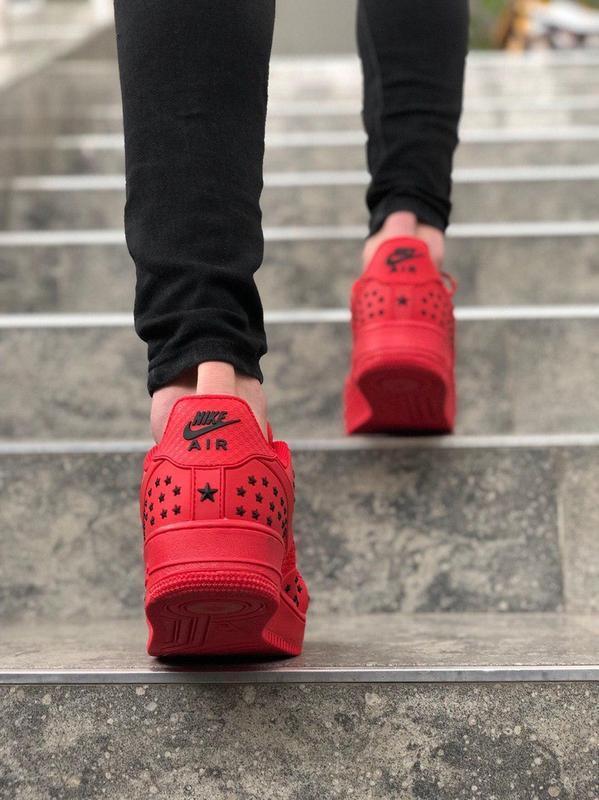 Шикарные мужские кроссовки nike air force low 1 red красные ни... - Фото 3