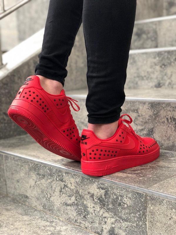 Шикарные мужские кроссовки nike air force low 1 red красные ни... - Фото 5