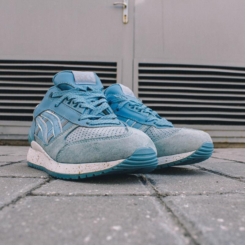 Шикарные женские кроссовки asics gel lyte 5 v голубые - Фото 3