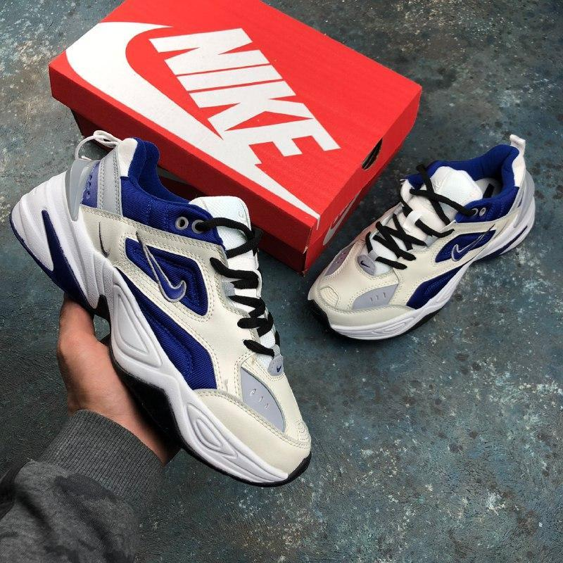 Шикарные кроссовки nike m2k tekno белые с синим