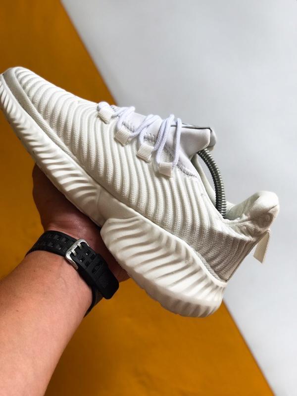 Шикарные мужские кроссовки adidas alphabounce instinct белые - Фото 2