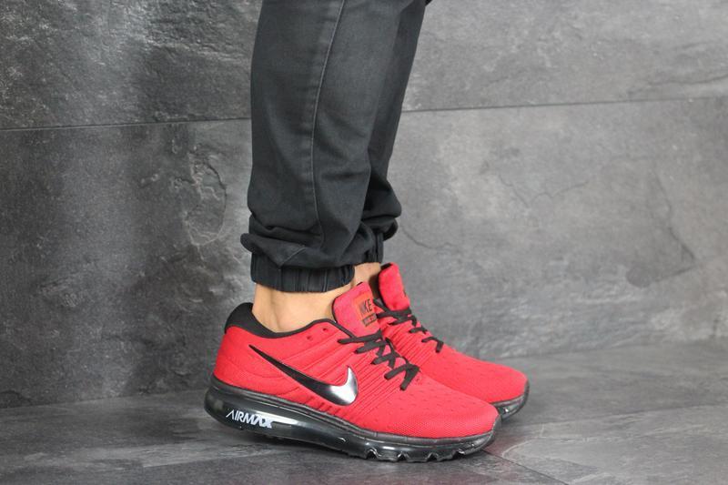 Шикарные мужские кроссовки nike air max красные