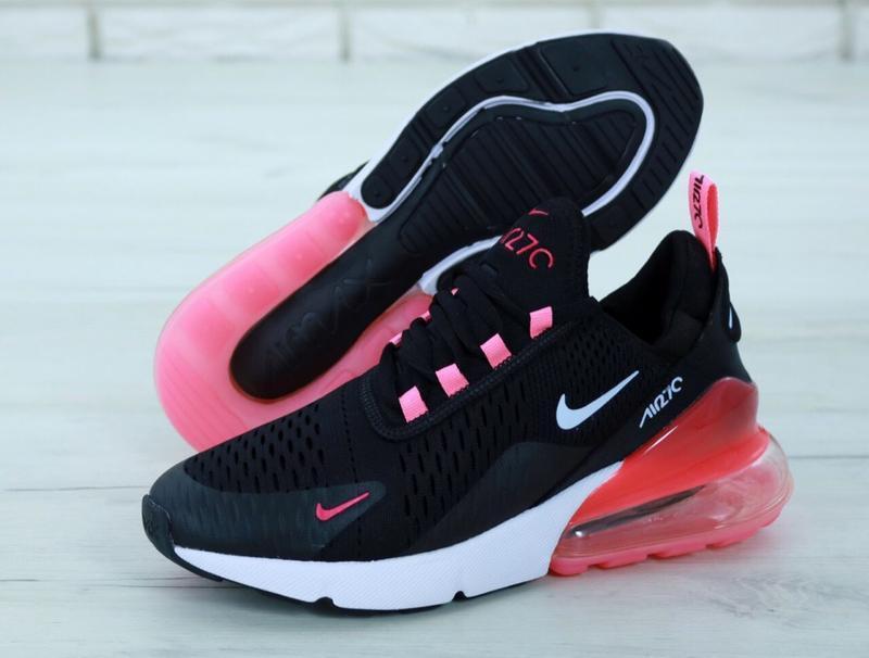 Шикарные женские кроссовки nike air max 270 black чёрные