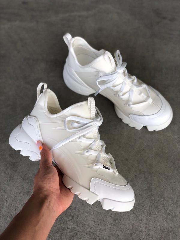 Шикарные женские кроссовки christian dior white