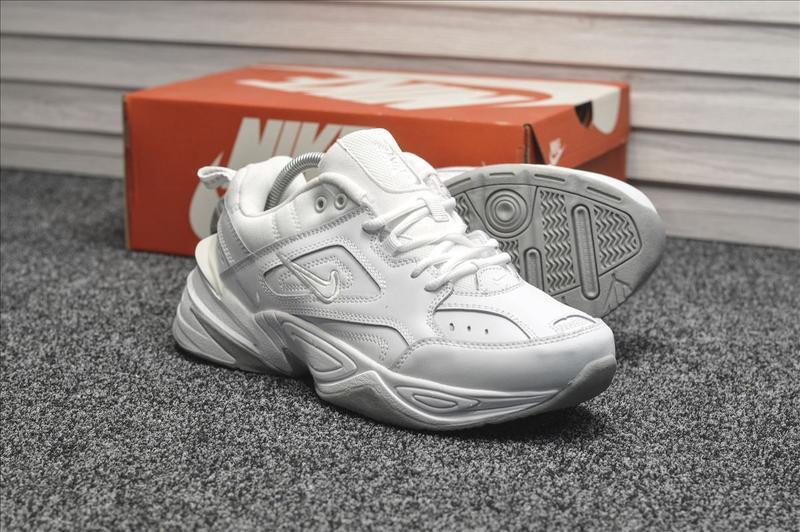 Шикарные мужские кроссовки nike m2k tekno white белые
