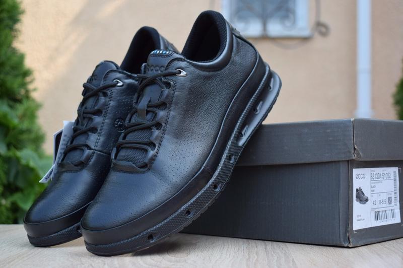 Мужские туфли кроссовки ecco cool o2 gore-tex черные
