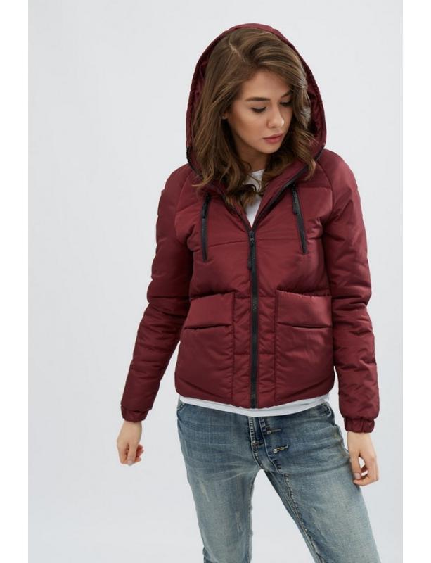 Женская демисезонная куртка memory бордо