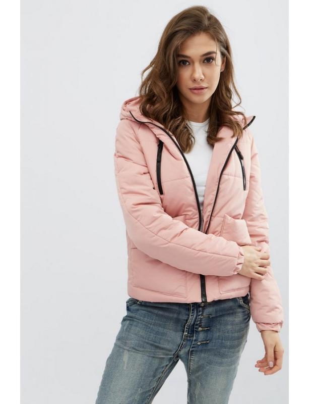 Женская демисезонная куртка memory розовая