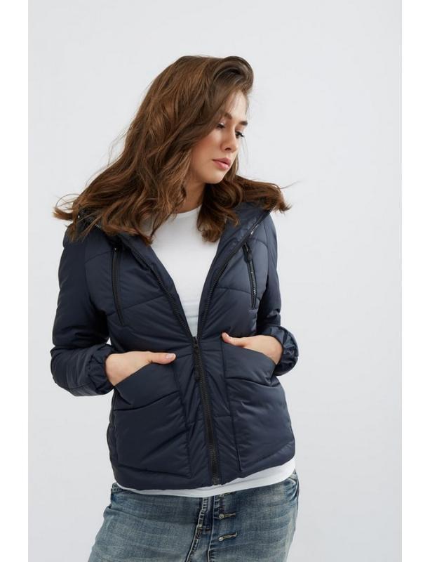 Женская демисезонная куртка memory синяя