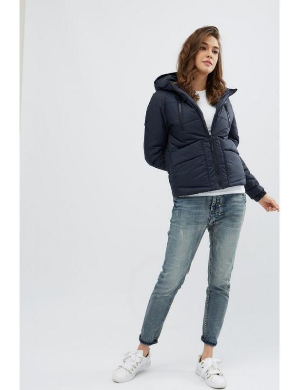 Женская демисезонная куртка memory синяя - Фото 2