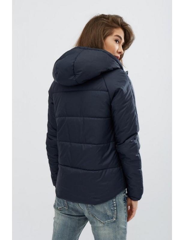 Женская демисезонная куртка memory синяя - Фото 3