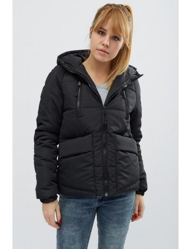 Женская демисезонная куртка memory черная