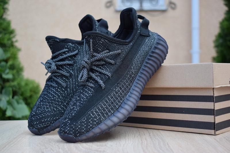 Шикарные женские кроссовки adidas yeezy boost 350 черные полно...
