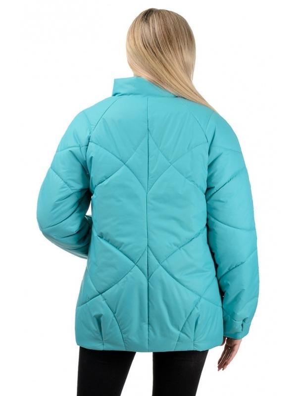 Шикарная женская осеняя куртка голубого цвета - Фото 3