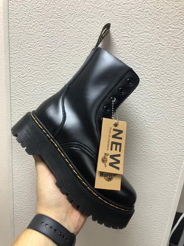 Шикарные осенние женские ботинки dr. martens jadon чёрные